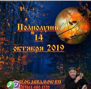 полнолуние 14 октября 2019